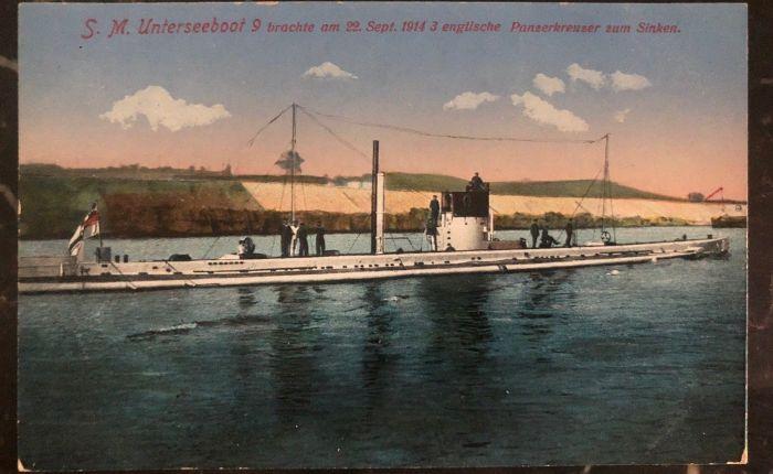 U-9, 36.000 toneladas al fondo en unahora