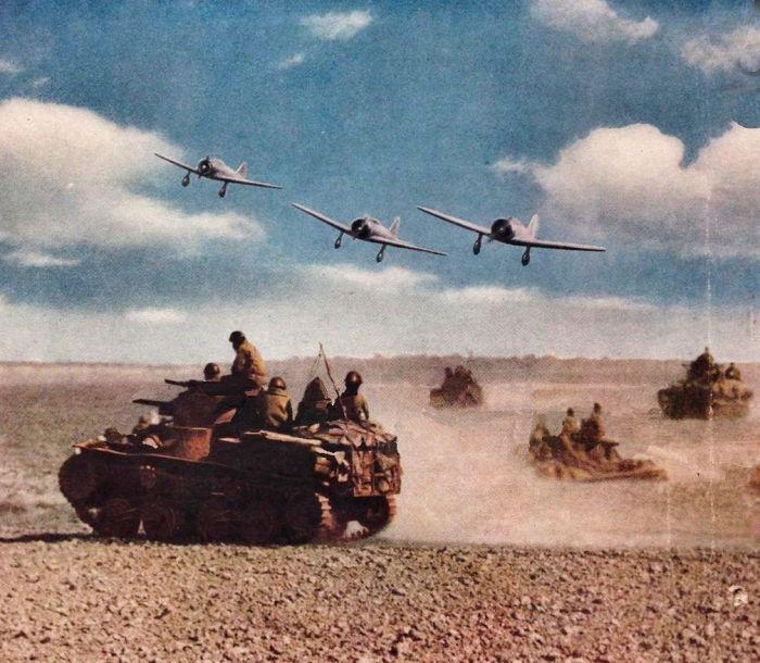 Ha Go tank y Ki.27