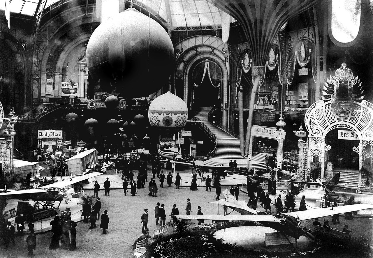 Salon de Locomotion Aerienne, Grand Palais, Paris, 1909