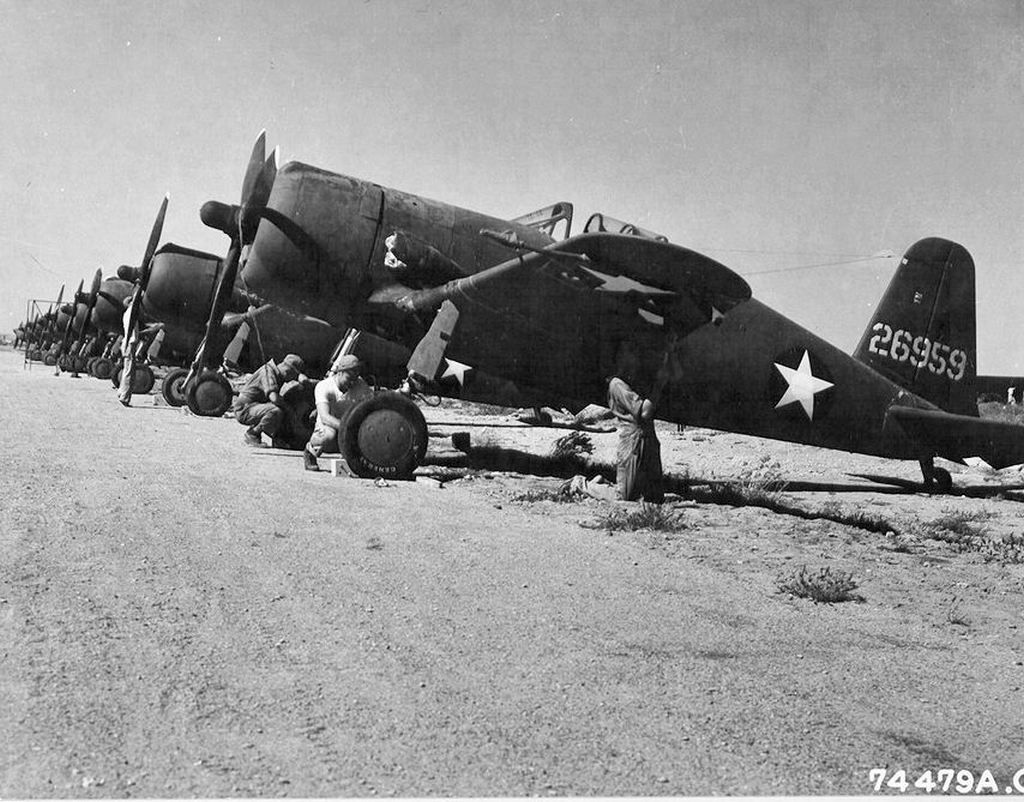Vultee P-66 Vanguards at Karachi Airfield in India on October 25 1942.