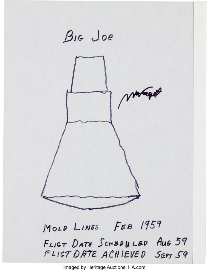 Signed drawing by Max FAget