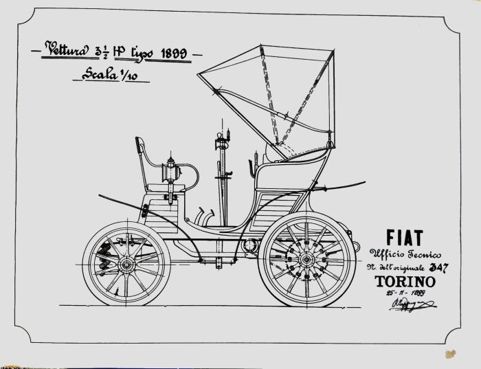 Fiat 3 y medio 1899