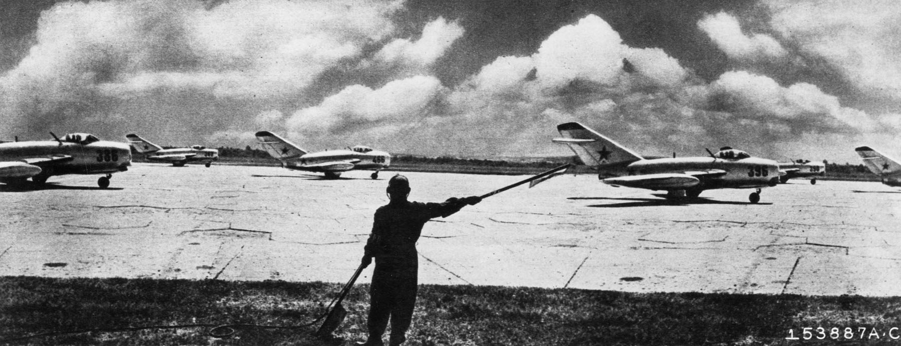 soviet-built-mig-15-jet-fighters-ready-for-takeoff_6876457693_o