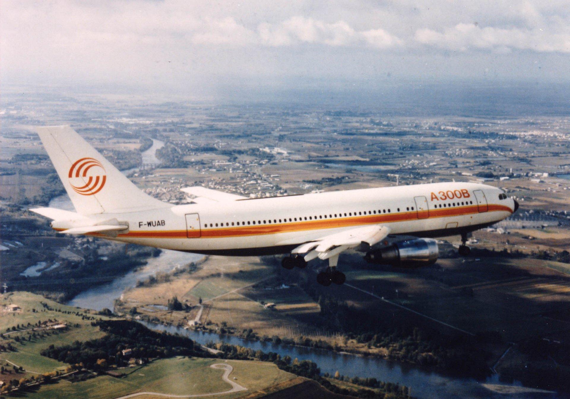 A300B-in-flight