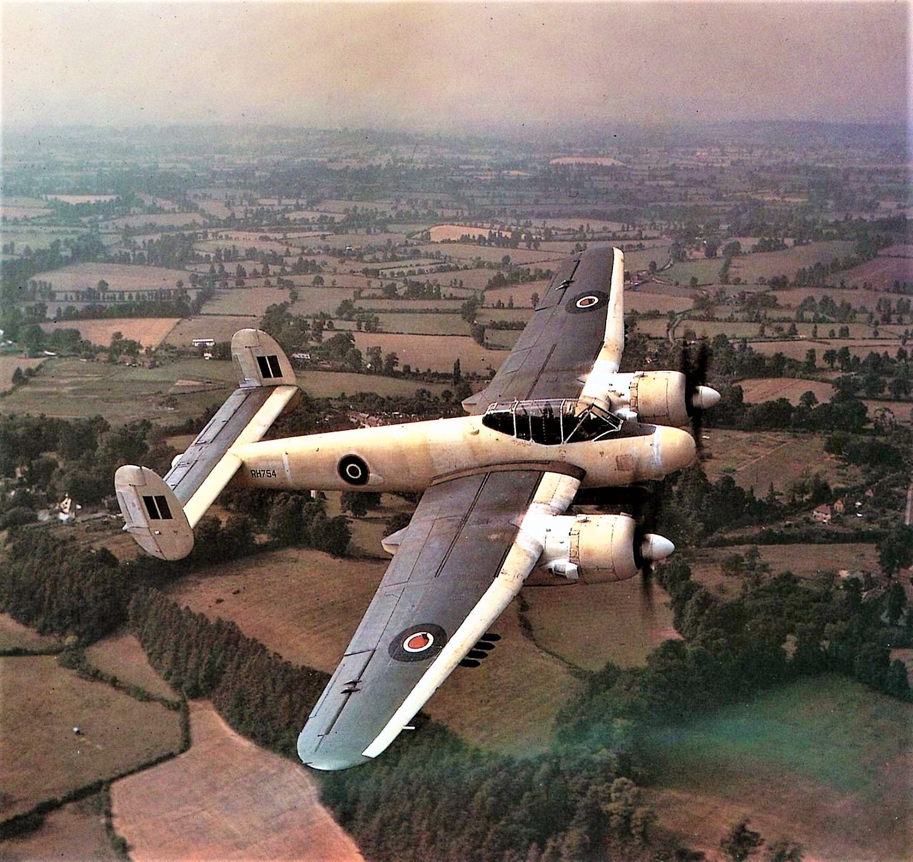 Bristol Brigand flying