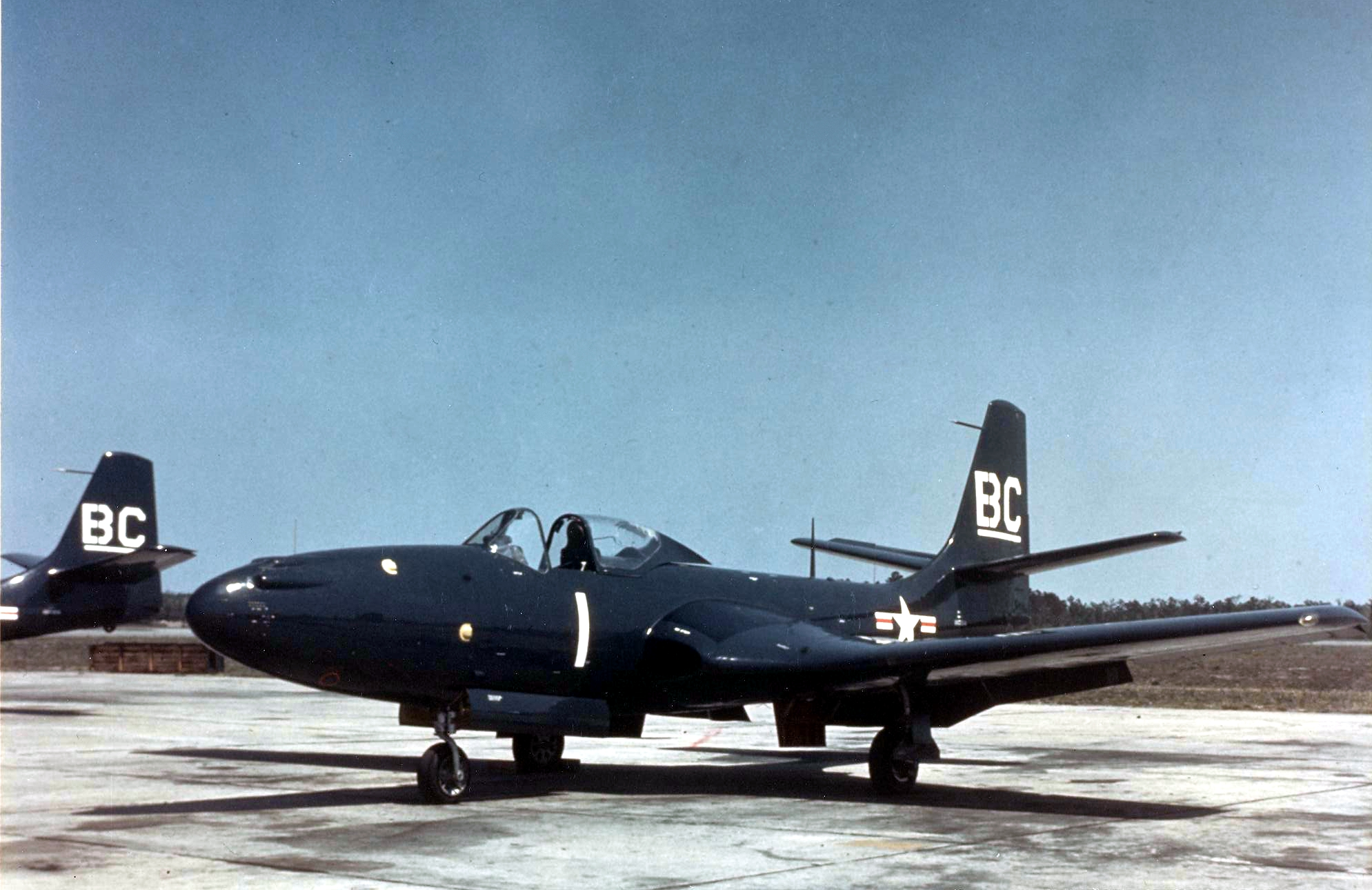 FH-1_Phantoms_of_VMF-122_parked_c1949
