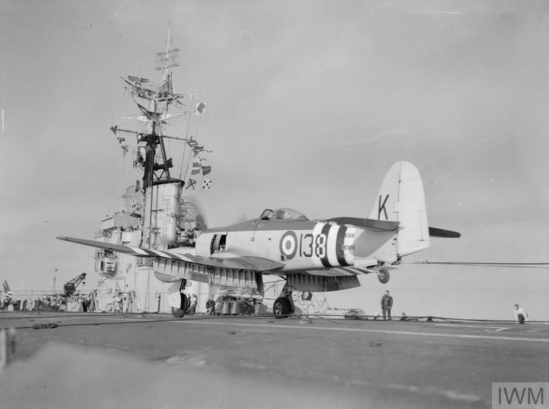 Australia Hawker Sea Fury 808sq landing HMAS SYDNEY Korea