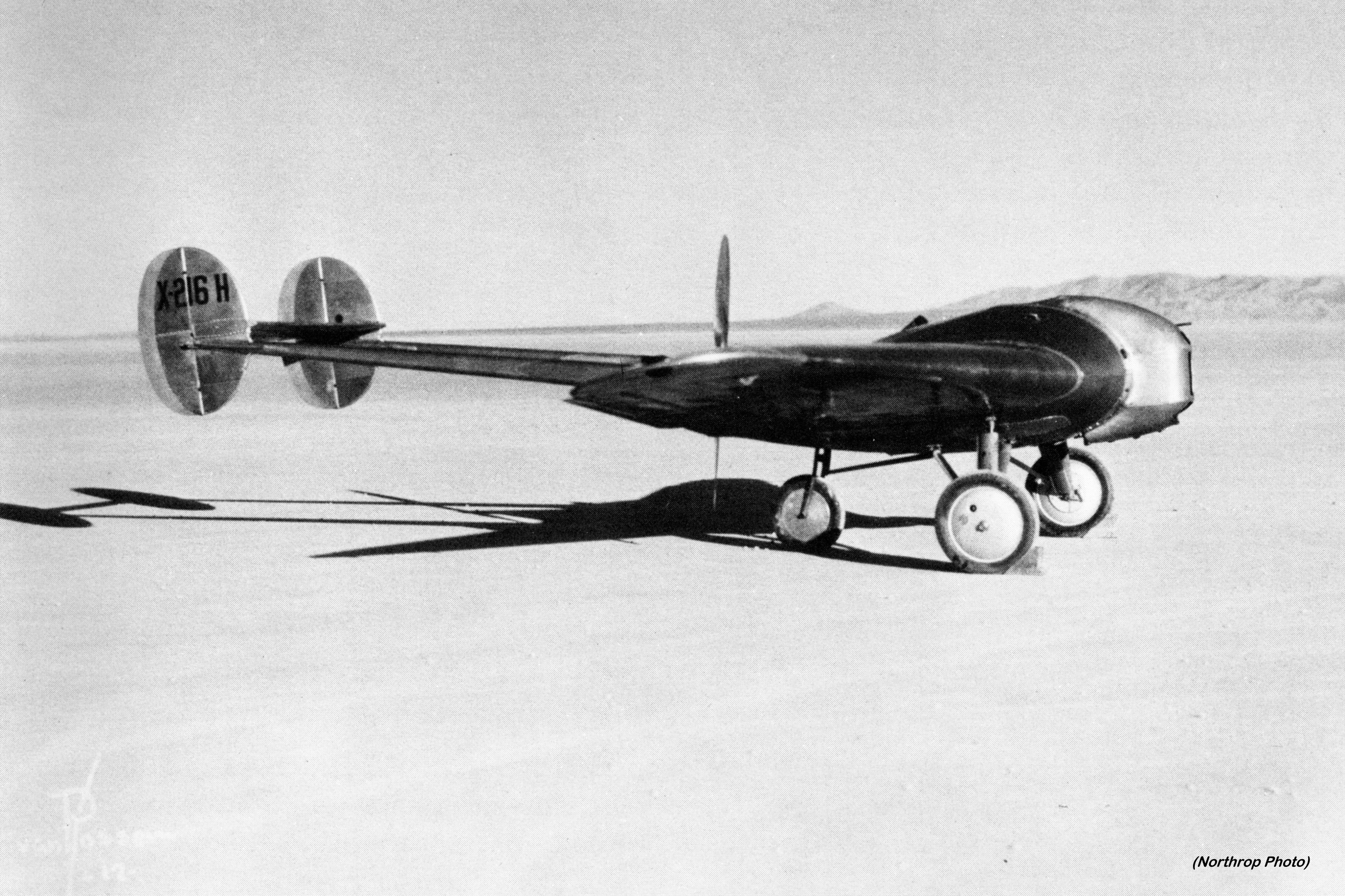 Avion Experimental No.1 Pusher (NX216H) side view (Northrop photo via the Skytamer Archive)