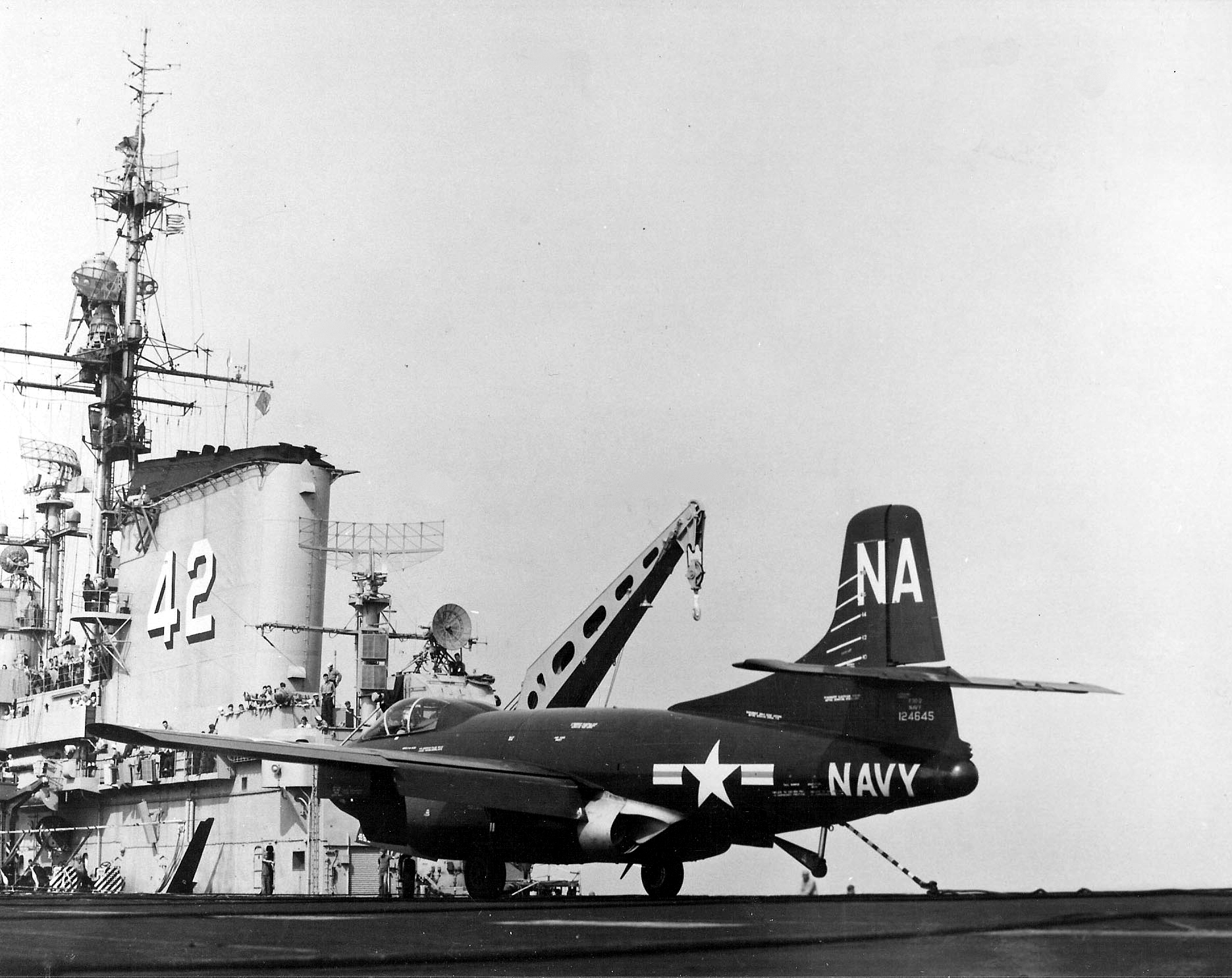 F3D-2_Skyknight_of_VC-4_on_USS_FD_Roosevelt_CVB-42_1952