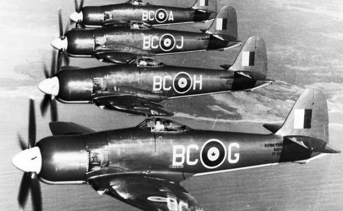 Sea Fury, último caza de motor a pistón de la RoyalNavy