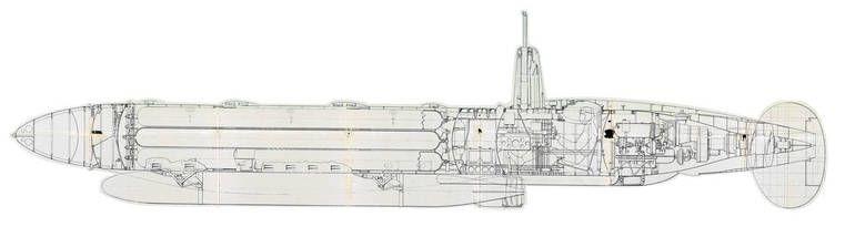Proyecto de Secondo Campini submarino a reaccion