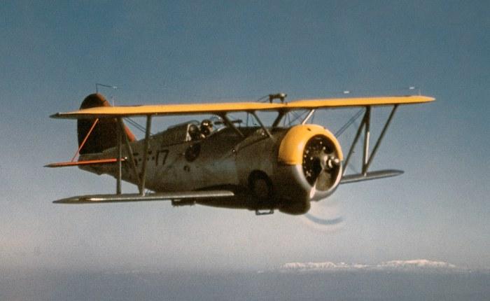 Grumman F3F, el último caza biplano enEEUU