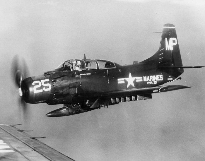 A VMA-331 AD-5 in flight
