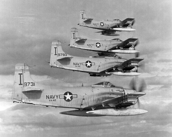 AD-6s from VA-42