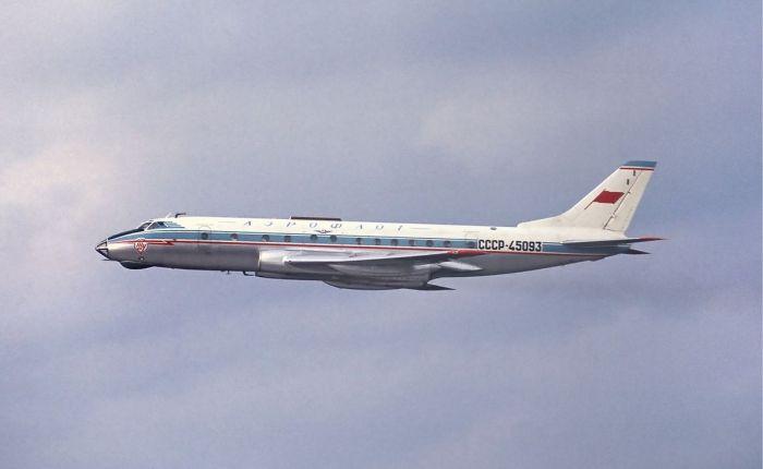 Tupolev-124, primer turbofán enservicio