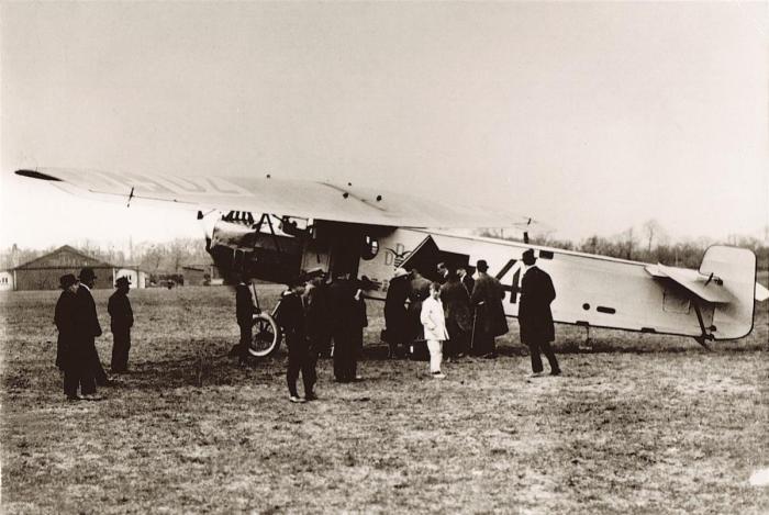 Foto 180. 'Dz 4'. Fokker F.II, kopie