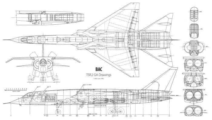 BAC-TSR-2 drawings