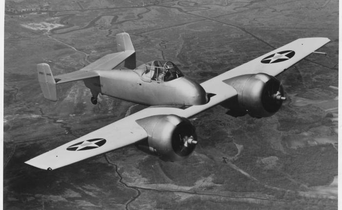 Grumman Skyrocket, primer caza bimotor de lamarina