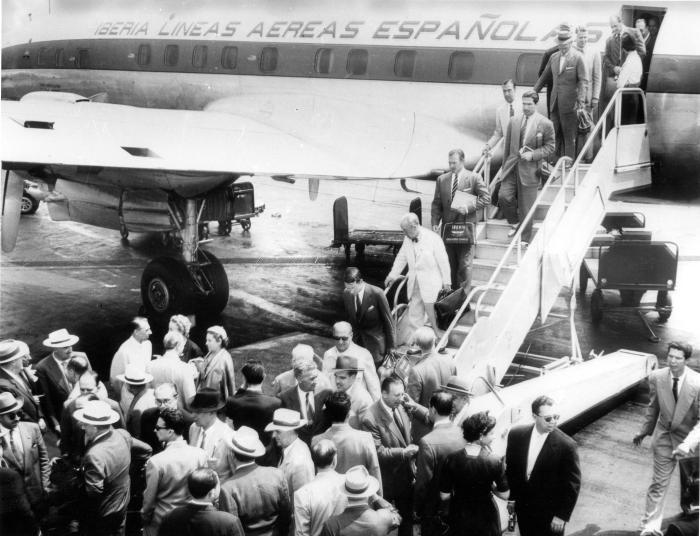 Vuelo_inaugural_de_Iberia_Madrid-_Nueva_York_(1954)