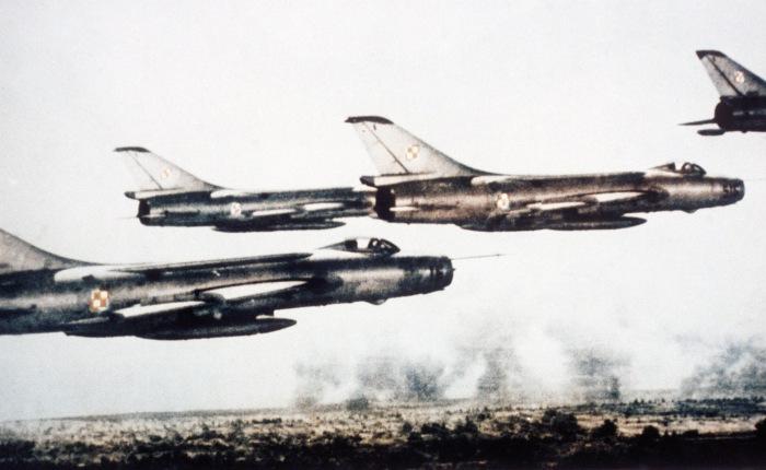 Sukhoi Su-7, ataque táctico soviético en los añossesenta